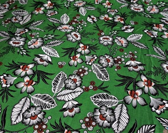 Javiera Viscose Challis Green Fabric
