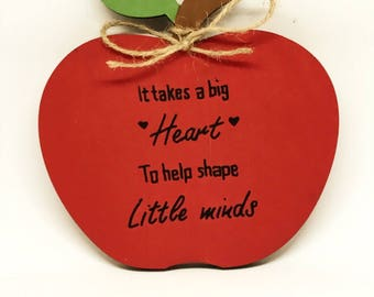 Teacher's apple gift.