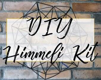 DIY Plastic Himmeli Wreath Kit - Make Your Own Geometric 3D Sculpture