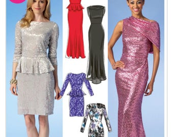 McCalls Pattern M6989 Misses'/Miss Petite Collared Dresses