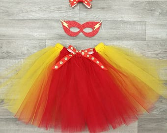The Flash inspired tutu set