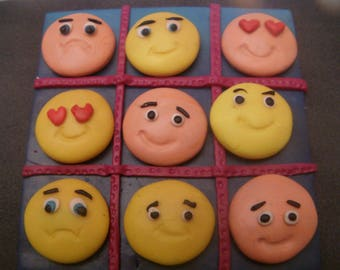 Tic Tac Toe game made of polymere clay