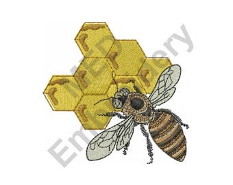 Bee - Machine Embroidery Design
