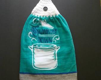 Crocheted Hanging Towel