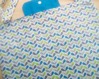 """Nice bag foldable """"popples"""" cotton in shades of blue"""