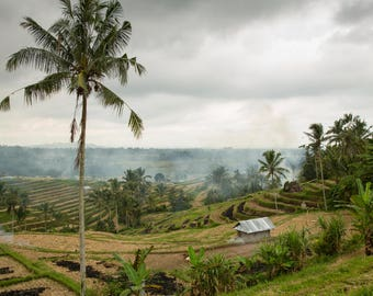 Bali Travel Photo, Large Wall Decor, Landscape Photography, Contemporary Art, Photos on Wood