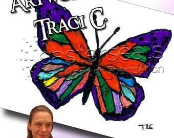 Butterfly, Traci C., 11 x 17 Print