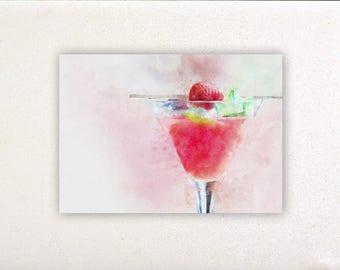 Cocktail - Watercolor prints, watercolor posters, kitchen decor, kitchen wall art, wall decor, wall prints | Tropparoba - 100% made Italy