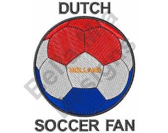Dutch Soccer Fan - Machine Embroidery Design