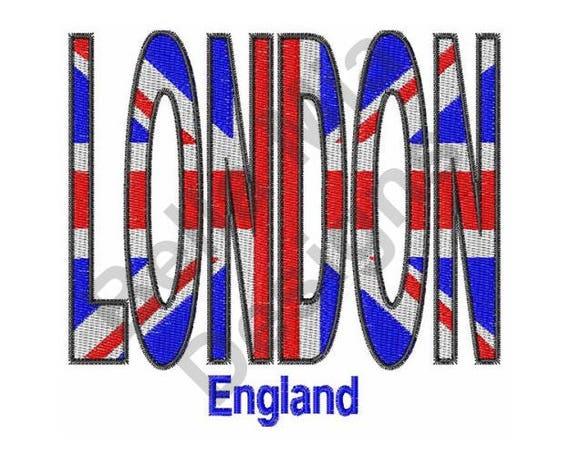 Flag machine embroidery design british london
