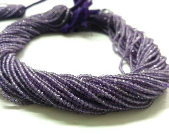 AAA 100% Natural Micro Amethyst Faceted Rondelle Beads Strands 2-2.5mm | Tiny Amethyst Beads | AAA Amethyst | Natural Micro Amethyst Beads