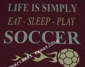 Soccer T-Shirt, Love Soccer