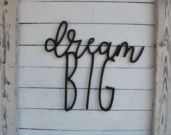 Dream Big Wall Art Children's Wall Decor For Nursery