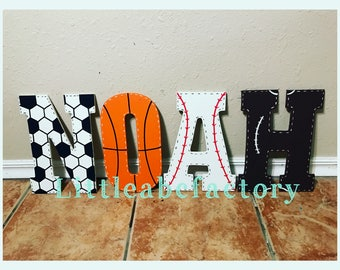 14in Sports letters, basketball, soccer, football, nursery decor