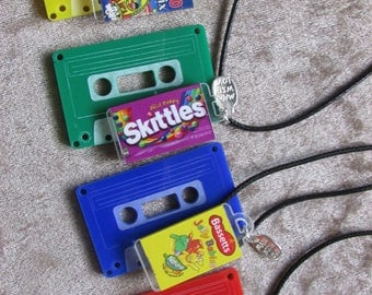 JUNKFOOD JEWELS retro cassette & sweet necklaces