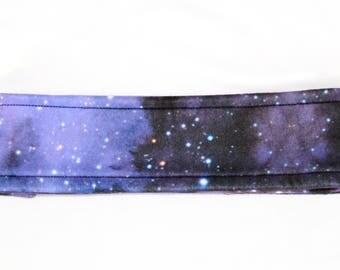 Fleece winter headband. Galaxy. WYNTER.