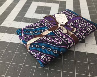 Purple-28 By-the-Yard African Wax Print