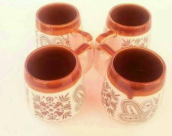 8oz. Paisley floral mug set