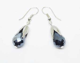 Black Bud Earring