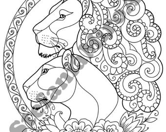 Lions printable coloring pages
