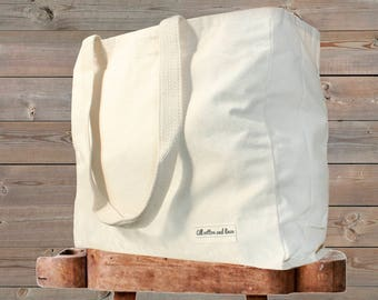 100% Organic Natural Cotton Canvas bag reusable shopping bags canvas tote bag cotton grocery bags