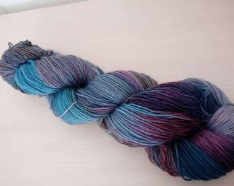 Hand-dyed sock yarn seahorse
