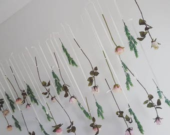 Flowers garland, hanging flowers, hanging wedding flowers, hanging wedding garland, hanging roses, rose garland, pink floral garland, pink