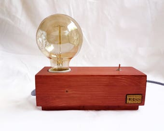 Description of atmosphere lamp with Edison burner