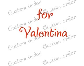 Custom cup sets for Valentina