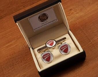 Ducati Cufflinks & Tie Clip
