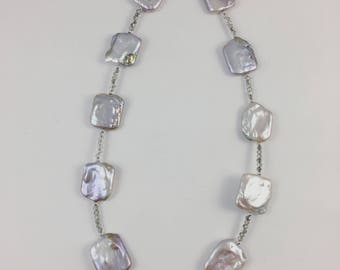 Square Freshwater Pearl Necklace