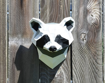 Raccoon Faux Taxidermy Head - Custom Colors