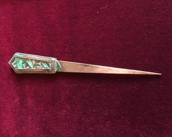 Beautiful c1900 to c1910 Copper Paper Knife / Letter Opener