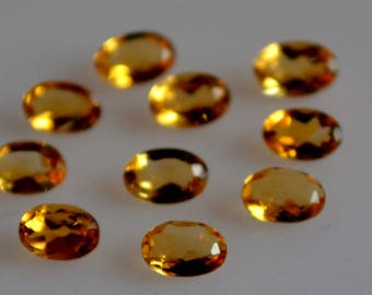 3x5 mm natural citrine oval faceted  loose gemstone AAA quality
