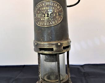 Miners lamp,  original made in Wales by Thomas & Williams Aberdare
