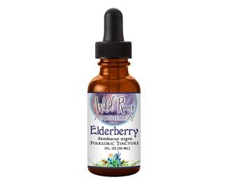 1 oz Elderberry Folkloric Tincture - Sambucus nigra