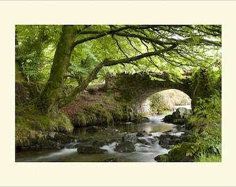 Robbers Bridge (Lorna Doone) Mounted Photograph