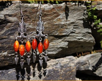 """The spirit of the ancients"" earrings"