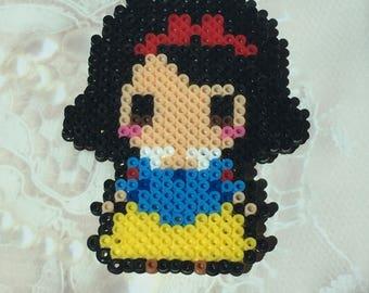 Snow White Perler Bead Magnet