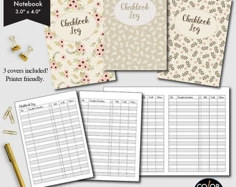 Micro-Size TN Checkbook, checkbook Register, Finance and Budget Planner, Printable Planner, Monthly Planner, CMP-217.6