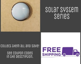"1"" Uranus - Solar System Series Button Pin or Magnet, FREE SHIPPING & Coupon Codes"