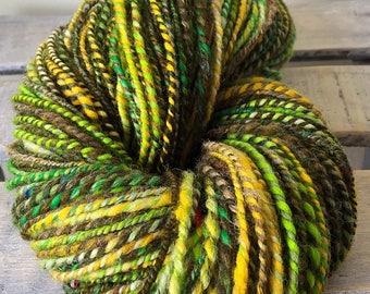 hand spun wool, jungle fever