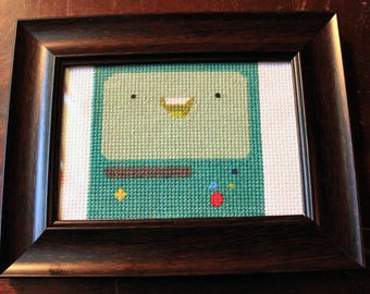 Adventure Time BMO Beemo cross stitch