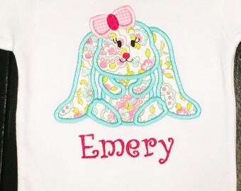 Girl Bunny Applique Shirt