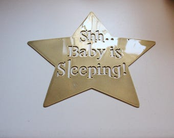 Shh Baby is Sleeping metal wall art accent