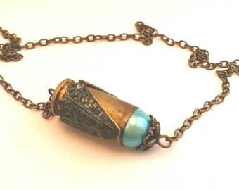 Necklace with Suspended .40 Caliber Bullet Casing