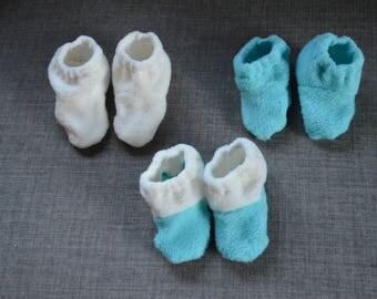 Soft Fleece Baby Booties