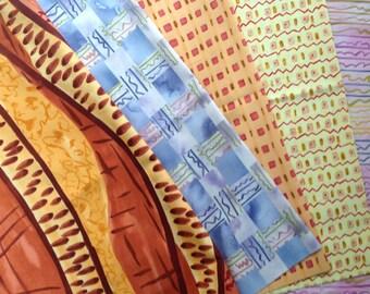 Fat Quarters African - 5 fabrics Free Shipping