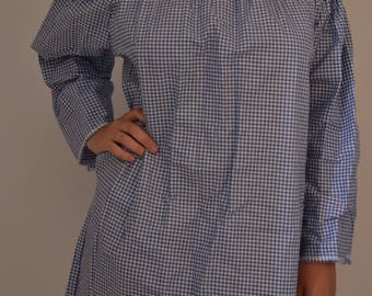 Blue gingham tunic