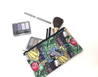 Cosmetic Bag, Makeup Brush Holder, Make-up Bag, Makeup Bag, Pencil Case, Makeup Organizer, Makeup Organizers, Zipper Pouch, Belle, Princess